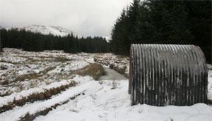 Lluest-yr-rhos in winter